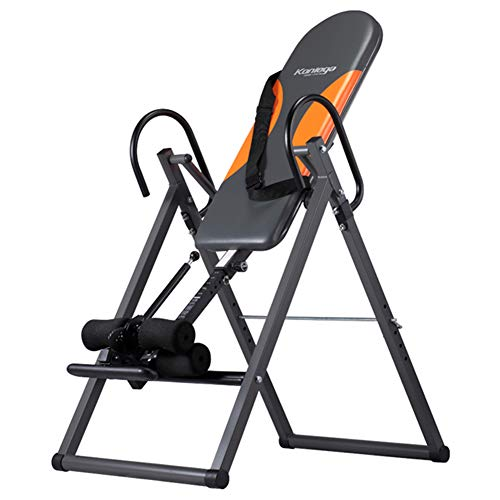 Learn More About Heavy Duty Inversion Table Health & Fitness Decompression and Extension Machine with Nylon Safety Belt Household Sports Equipment Black & Orange