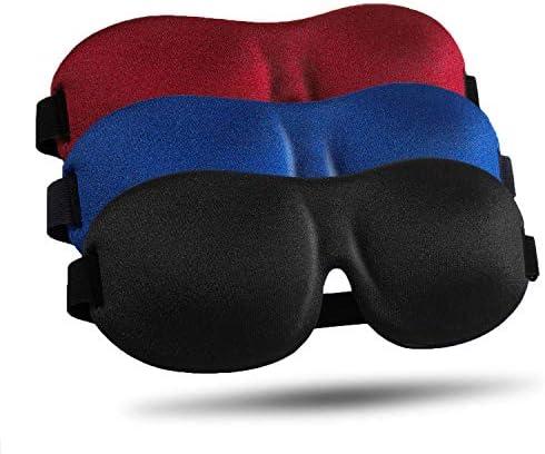 Sleep Mask 3 Pack Upgraded 3D Contoured 100 Blackout Eye Mask for Sleeping with Adjustable Strap product image