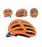 Casco de Ciclismo Ultraligero con Gafas integradas, Desmontables, Casco de Bicicleta de montaña, Casco rígido para Montar, Color Naranja, tamaño Large