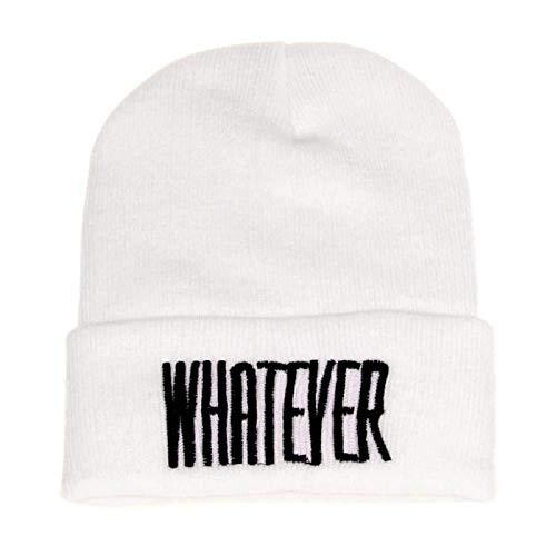 Muts heren dames wintermuts met spreuk print unisex winter beanie warme gebreide muts vrouwen mannen hip hop Hat