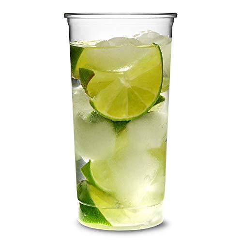 Set di 30 bicchieri usa e getta da cocktail sottili, in plastica, da 355 ml
