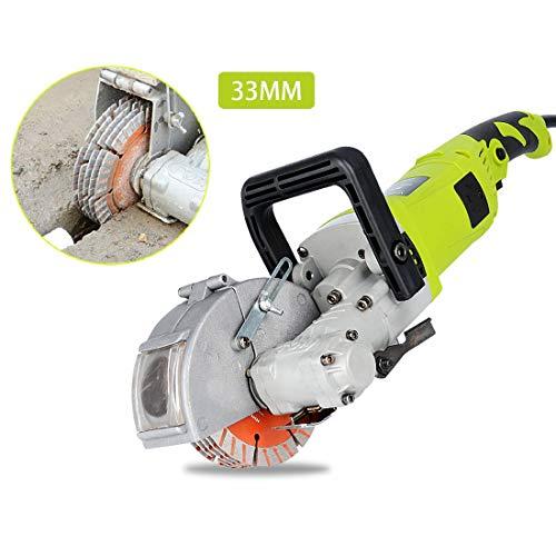 Isunking Máquina cortadora concreta de acero de la máquina de la máquina de la ranura de la máquina del ranurado del ranurador del chaser de la pared 220V 4000W los 33MM (Set A)
