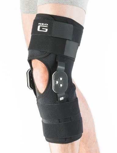 Neo G Hinged Knee Brace, Adjusta Fit - Open Patella - Support For Arthritis, Joint Pain, Tendon, Ligament Strains, ACL, Injury Recovery - Adjustable Dials - Class 1 Medical Device - One Size - Black