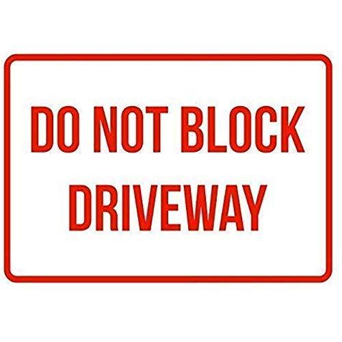 Garage werf hek teken niet blokkeren oprit geen parkeren zakelijke veiligheid verkeersborden rood metalen tin teken 8x12 inch