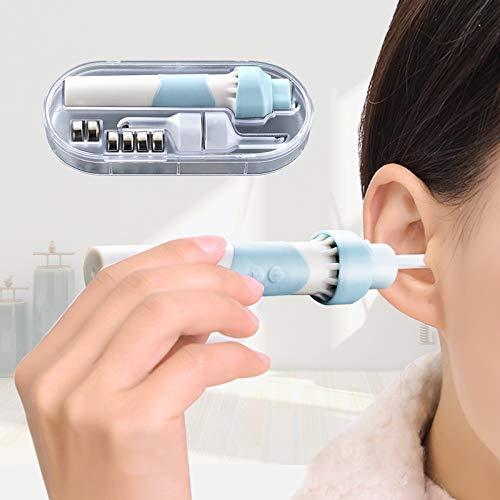 Ohrenreiniger, MEOWMEE Elektrischer Ohrenschmalz Entferner mit LED-sicherem und weichem Ohrstöpsel-Tool Verbessertes Kit zum Entfernen von Ohrenschmalz mit 2 Köpfen für Erwachsene und Kinder