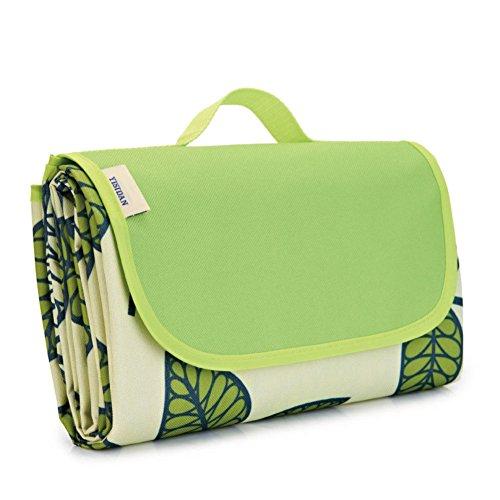 HM&DX Outdoor Picknickdecken Wasserdicht Oxford Feuchtigkeitsbeständig Tragbare Faltbar Picknickdecke campingdecke Picknick-Matte Für Spring Tour Rasen Strand pad-Grün 200x150cm(79x59inch)