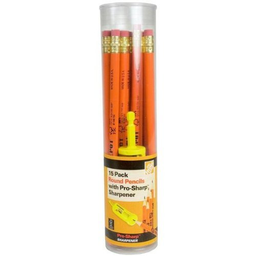 Home Depot Round Pencils with Pro-Sharp Sharpener 15-Pack