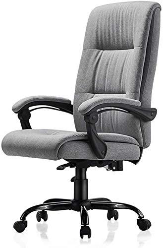 Xiuyun Bürostuhl Gaming Chair Vorstand Recline Aufgaben-Stuhl Computer Stuhl mit 70 cm hoch zurück und Kippfunktion ultimative Komfort Design Bearing Gewicht 150 kg (Color : Light Gray)