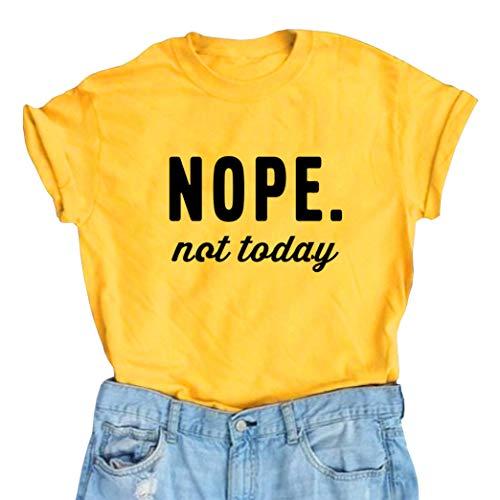 YITAN Women Cute Graphic T Shirts Teen Girls Summer Funny Tops Yellow Small
