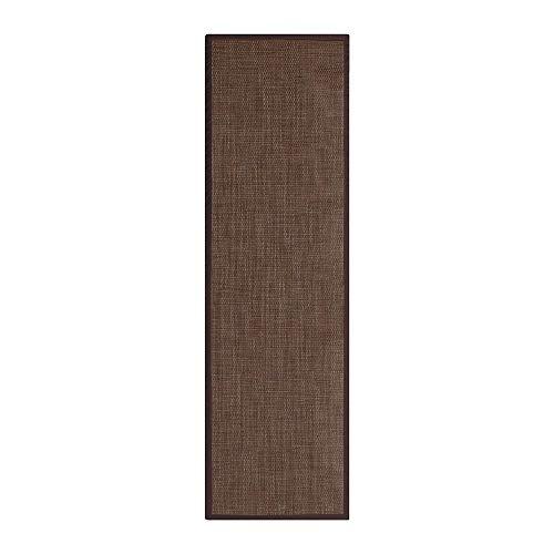 Alfombra de Polipropileno pasillera para Exterior marrón clásica de 60x200 cm -...