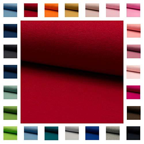 Bündchen Stoff NELE UNI in vielen Farben Oeko-Tex Standard 1 Schlauchware 35cm / 70cm aufgeschnitten Meterware ab 50cm hochwertiger Basic-Stoff zum Nähen (rot)