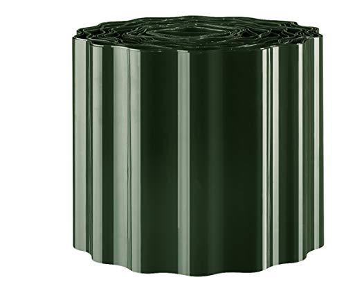 EXCOLO 9m Rasenkante 15 cm hoch Beeteinfassung Beetumrandung Rasenbegrenzung Raseneinfassung grün