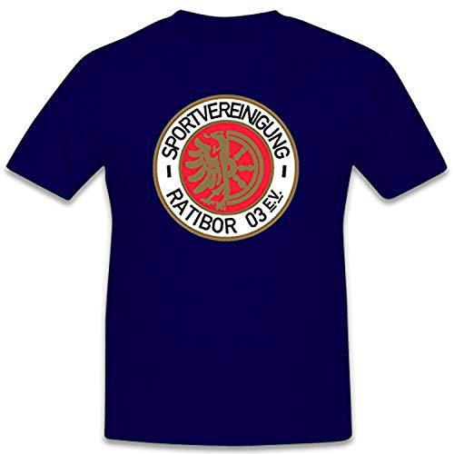 Sport verinigung ratibor 03EV ehemaliger Club de Fútbol en alemán exterior 260365clásico–Camiseta # 12412 azul oscuro Large