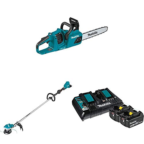 New Makita XCU07Z 18-Volt X2 (36V) LXT Lithium-Ion Brushless Cordless 14 inch Chain Saw and XRU15Z C...
