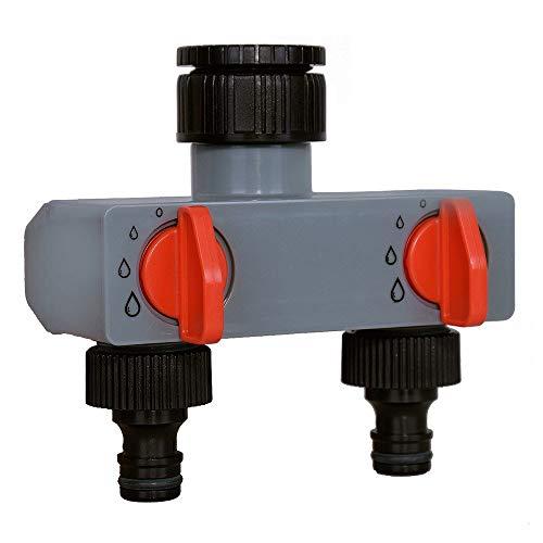 N\A Schlauch Sprinkler Wasser Timer 2-Wege-Wasserverteiler Tap Adapter ABS-Kunststoff Verbindungsschlauch Splitters for Schlauch-Schlauch-Wasser-Hahn (Diameter : 3 Quarter and 1 inch)