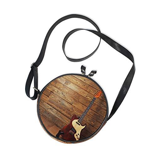 Ahomy - Bolso bandolera para guitarra eléctrica en madera para mujer