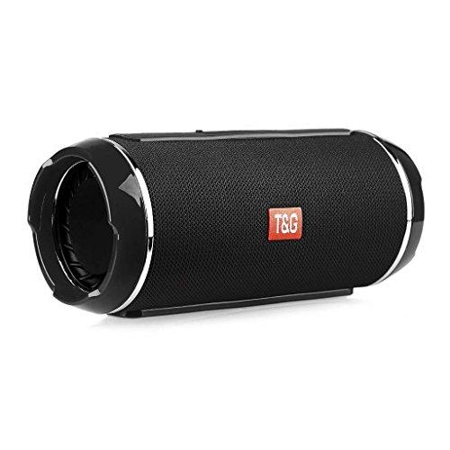 Altavoz portatíl multifunción Bluetooth, multifunción Compatible con Smartphone, Tablet, iPod y PC, MP3, TF, USB, Resistente a Salpicaduras de Agua, Color Negro