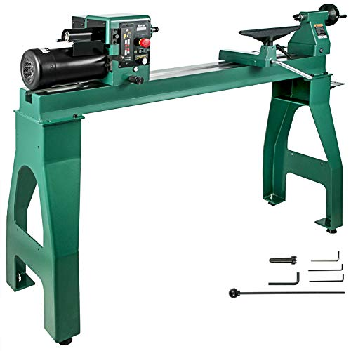 Buy Cheap BestEquip Wood Lathe 16 x 42 Variable Speed Lathe WoodTurning 1750W Lathe Machine 180 De...