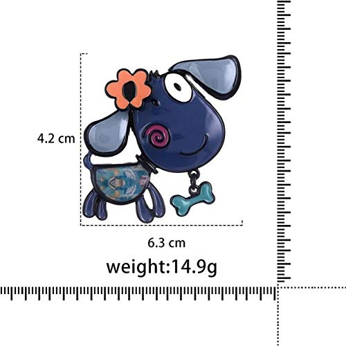 Animal Dog Brooches Unisex Women and Men Enamel Cartoon Dachshund Brooch Pins for Kids Gift-Bo2104Blbe