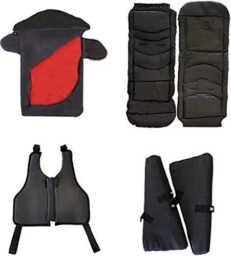 Excel Elise - Juego de accesorios para cochecito de bebé, saco de dormir, asiento acolchado, inserciones laterales, arnés chaleco, para adaptarse a Excel Elise Buggy, color rojo