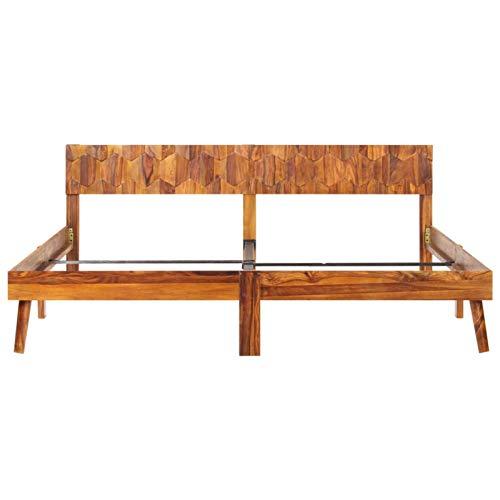Bulufree Schlafzimmer praktische Holzbettrahmen, Moderne Holzbettrahmen aus Holz 205...