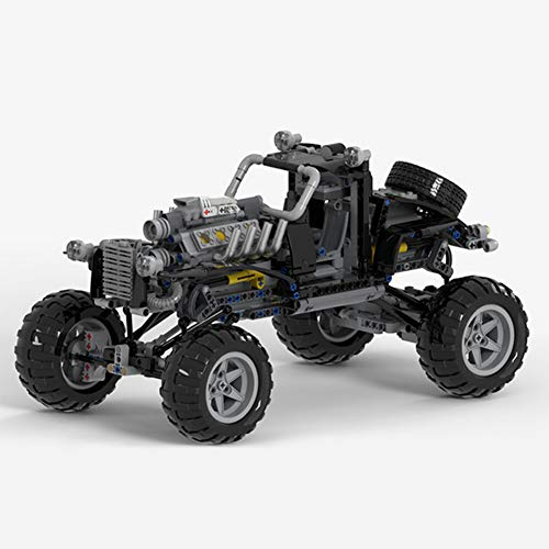 WDLY 846 PCS Bloque De Construcción Compatible con Lego Mad Mad MAX Fury Vehículo De Carretera, Puzzle Técnica Técnica Super Racing RC Kit, Juguete De Ladrillos para Adulto O Niño