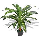 SHUJUNKAIN Planta de drácena Artificial con Maceta 90 cm Verde Casa y jardín Decoración Flora Artificial Tipo de Planta: Drácena