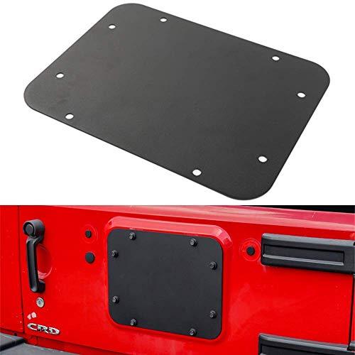 DQDZ, piastra di copertura per foro ruota di scorta per portellone posteriore, colore nero