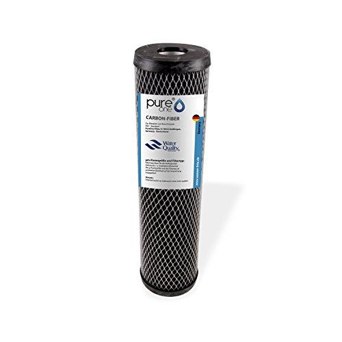 PureOne Carbon-Fiber Filterkartusche. Auswaschbarer Sedimentfilter aus Karbonvlies. Verschiedene Feinheiten. Für Brunnen, Zisterne, Hauswasserwerk und Teiche. Für 10 Zoll Wasserfilter Gehäuse.