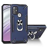 BINGRAN Etui pour Motorola Moto G20 Cover,Pare Chocs en TPU Douple Anti Collision avec Support...
