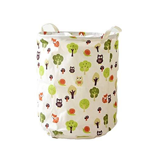 ZYL-YL Almacenamiento Cubo, Juguete de Almacenamiento Cubo de algodón y Lino Plegable Impermeable de la Cesta de lavadero Cesta de lavadero