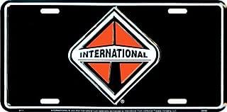 HangTime International Black Background License Plate
