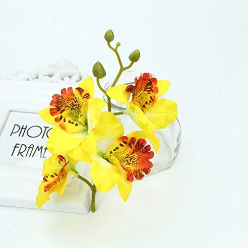 Zijden vlinder orchidee vaas weergeven kunstbloemen Nieuwjaar kerst decor voor thuis bruiloft bruids accessoires klaring, geel