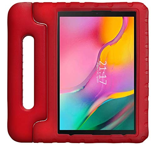 Funda Infantil Antigolpes con Asa para Samsung Galaxy Tab A 10.1 (2019) T510 / T515 Color Roja