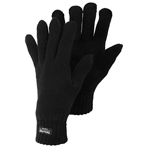 Gants tricotés thermiques Thinsulate - Homme (L/XL) (Noir)