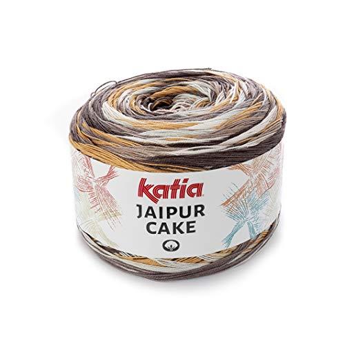 Katia Jaipur Cake Fb. 402, Lace Bobbel Cotton Fil de dégradé de couleurs pour tricoter et crocheter 200 g environ 1100 m