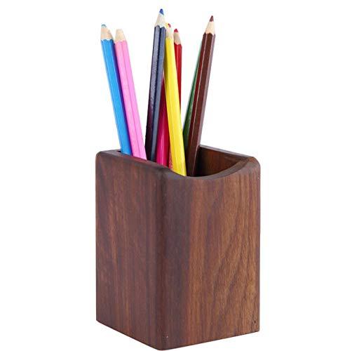 【ヘルスリーフ】 木製無垢ペンスタンド ペン入れ 天然木 天然杢 ペン立て ウォールナット 鉛筆立て