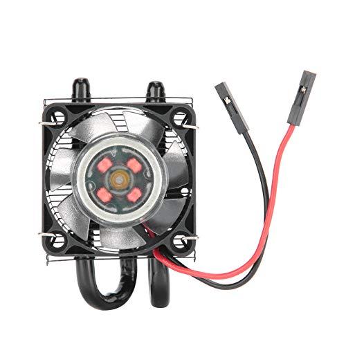 gostcai Ventilador de enfriamiento de Torre Ice, Enfriador de Calor con luz LED de 7 Colores, disipador de Calor Multicapa + Ventilador Potente de 7 aspas, Tubo de Cobre de 5 mm, para Pi 4B 3B + 3B.