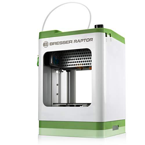 Bresser Stampante 3D Raptor WLAN, struttura molto compatta con una dimensione di stampa di 100 x 105 x 100 mm, 210 x 210 x 290, bianco e verde