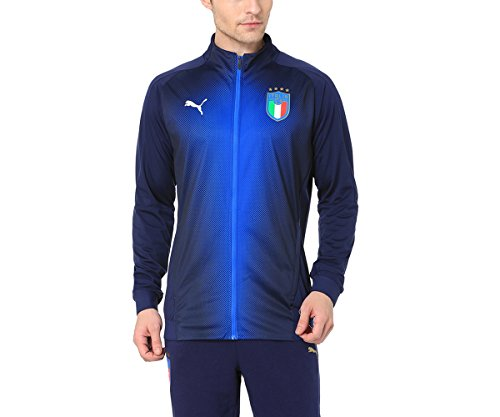 PUMA Erwachsene FIGC Italia Stadium Jacke, Peacoat/Team Power Blue, L