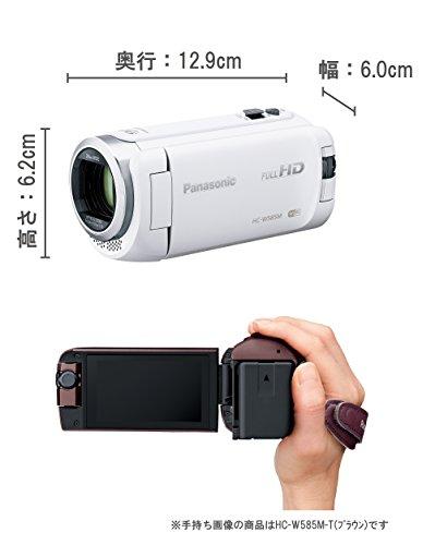 『パナソニック HDビデオカメラ W585M 64GB ワイプ撮り 高倍率90倍ズーム ホワイト HC-W585M-W』の1枚目の画像