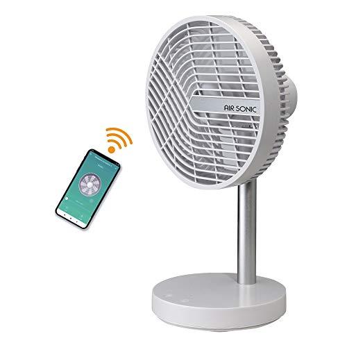 BIMAR VD200 Ventilatore da tavolo 20 cm, Ventilatore Smart con batteria ricaricabile, Ventilatore Wifi con App iOS e Android, Ventilatore wireless, Ventilatore Alexa e Google controllo vocale