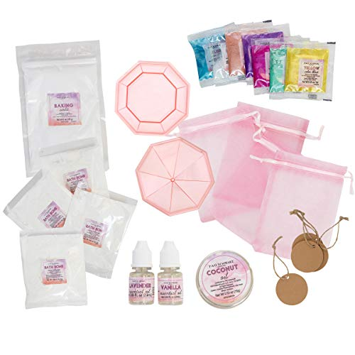 FAO Schwarz 25 Piece DIY Bath Bomb Set for Kids, Kit Includes Everything to Create 4 Scented and Colored Spa-Ready Bath Bombs