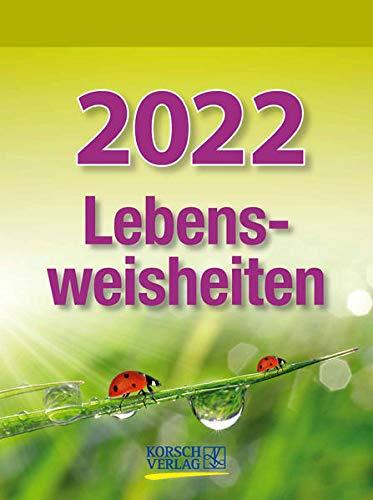 Lebensweisheiten 2022: Tages-Abreisskalender mit einem neuen Spruch für jeden Tag. I Aufstellbar I 12 x 16 cm