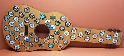 Tanno Design Kronkorken Sammelbild Akustic-Gitarre 60x25cm für 55 Kronenkorken