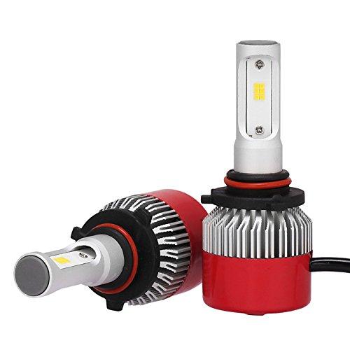 ZGMA 2pcs 9005 Automatique Ampoules électriques 36W LED Intégrée 3600lm LED Lampe Frontale 9005