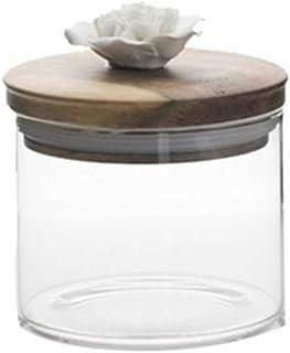 Conteneurs céréales, grains de café en céramique créative fleur bonbons bocal scellé Pot en verre décoratif cuisine jarres...