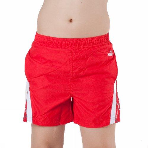 Puma Boys Beach Shorts 812079–2Bambini Maglia Pantaloncini Mare Rosso, Ragazzo
