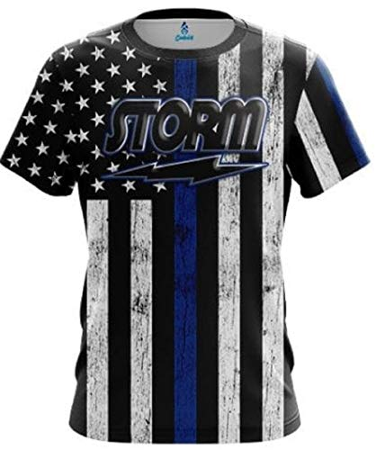 CoolWick Storm Blue Line Bowling Jersey (XL)