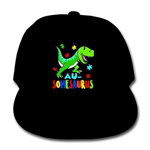 Whhfashion Gorra de béisbol para niños y niñas con conciencia sobre el autismo del amor, gorra de béisbol, estilo hip hop, gorra ajustable de senderismo 6-12T, color negro